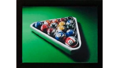 Картина №4: бильярдные шары в треугольнике