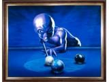 Картина №5: инопланетянин играет в бильярд