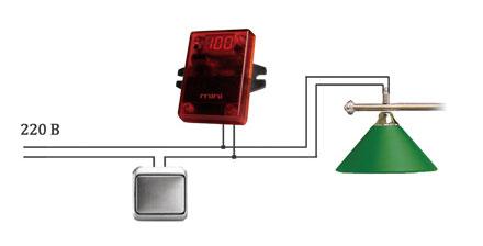 """Схема подключения системы контроля времени, таймер """"Мини"""""""